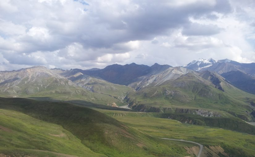 Mountains and valley near the Eielson Visitor Center in Denali National Park